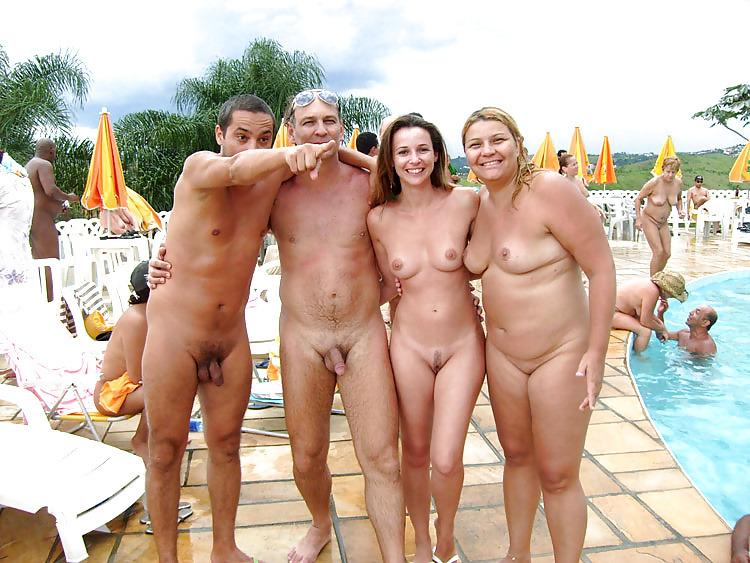 Lake como bare buns bike rally family nudist resort shirt size xl
